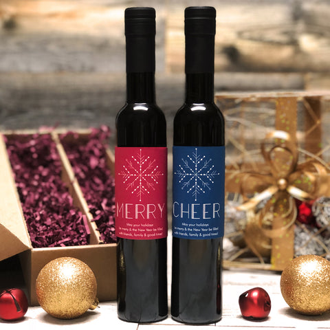 Merry & Cheer Personalized Oil & Vinegar Gift set