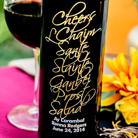 Cheers International Etched Wine