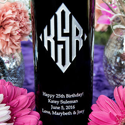 Diamond Monogram Etched Wine