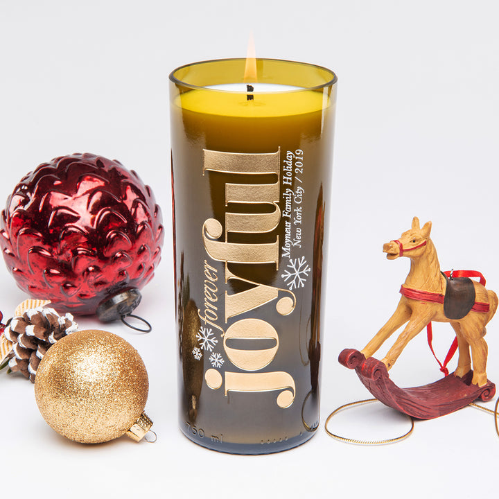 Forever Joyful Personalized Candle