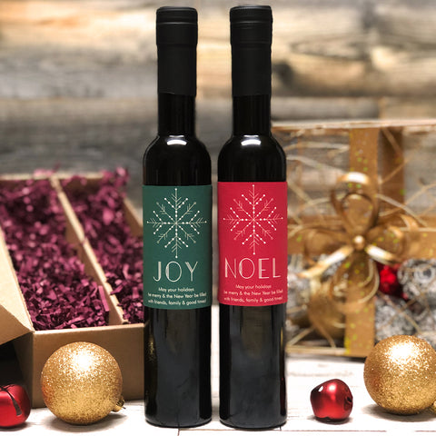 Joy & Noel Personalized Oil & Vinegar Gift set