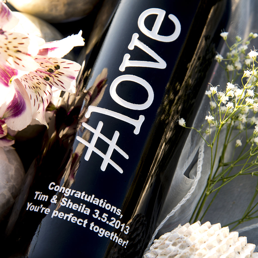 #love Etched Wine
