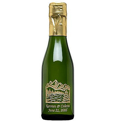 Mountain Wedding Etched Favor / 6 btl set