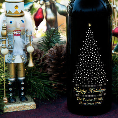 Starry Pine 3.0 Liter Bottle Etched Wine