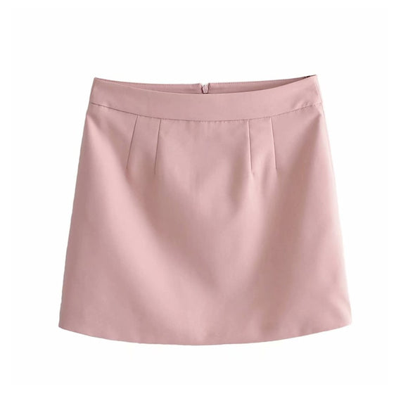 Women sweet pink mini skirt