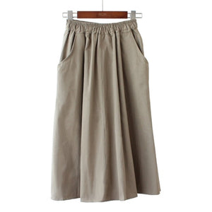 Women New Fashion Elastic Waist Skirt