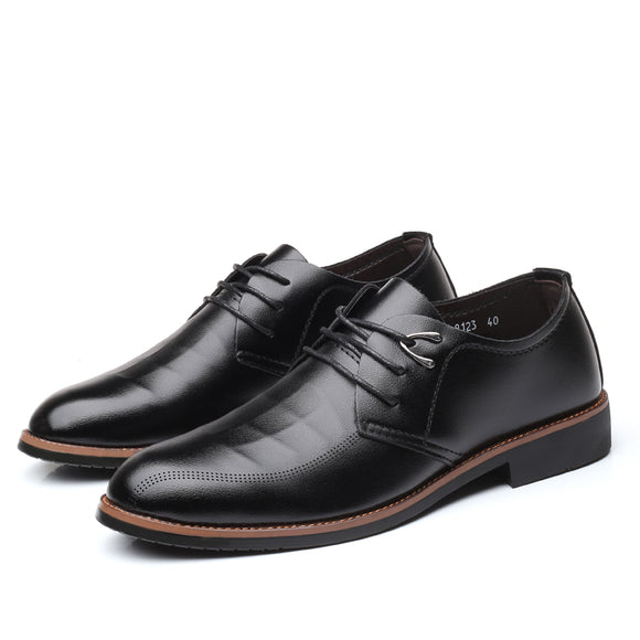 Men Flats Leather dress Shoes