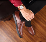 Men's Cow Leather Loafers Soft Shoes