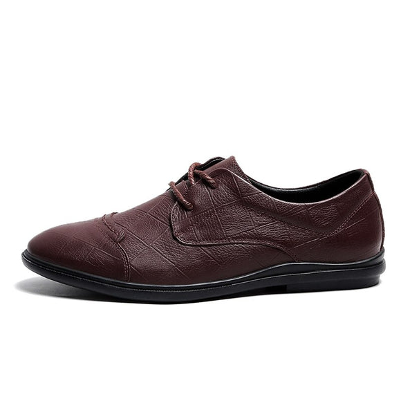 leather business men shoes