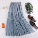New Long Pleated Skirts