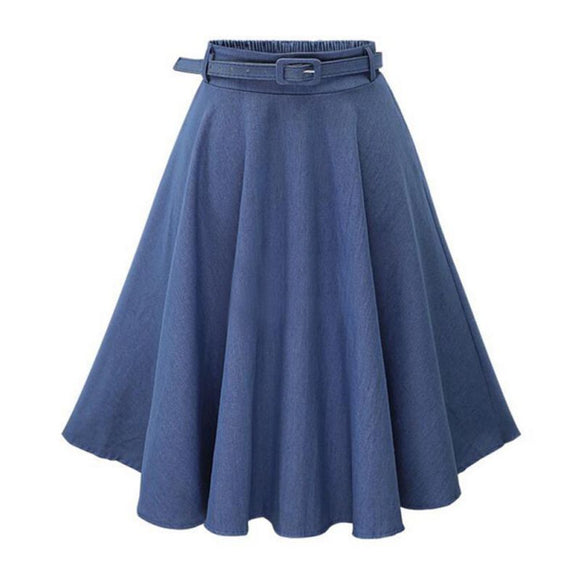 High Waist Long Section Skirt