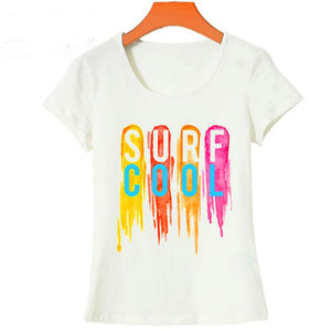 Surf Cool Printed Letter T-shirt