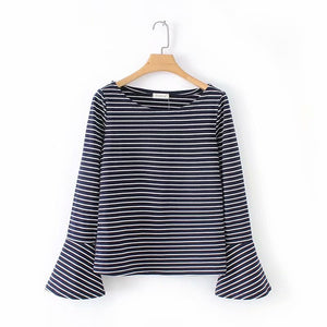 Dress New Style Dark Blue White T-shirt