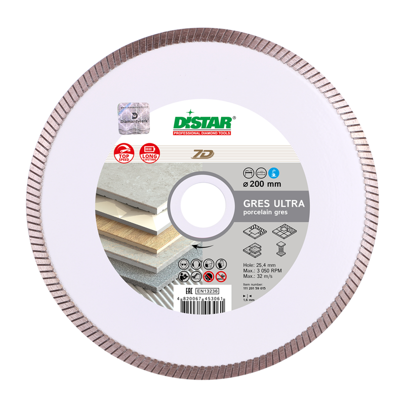 DISTAR Diamond Cutting Blade 7D 1A1R GRES ULTRA Ø180-250