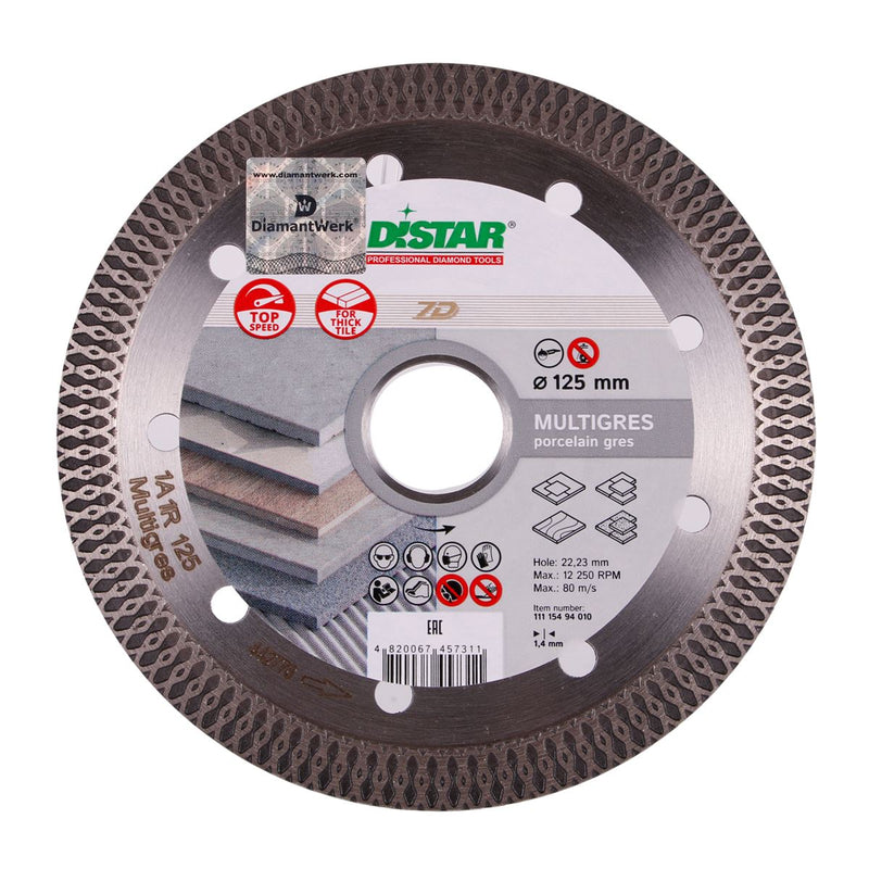DISTAR Diamond Cutting Blade 7D 1A1R MULTIGRES Ø115-125