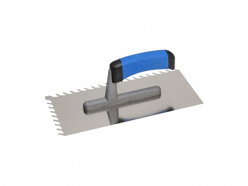 Stainless Steel Skewed 8mm Notch Trowel 130x270mm (G1)