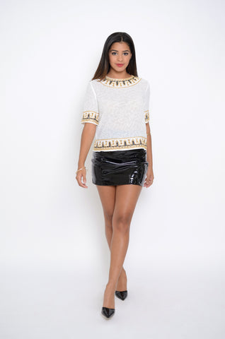 Noble Olenna Sequin Top
