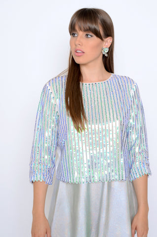 Urban Mermaid Sequin Top