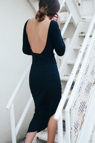 Reverse Open Back Cameron Dress