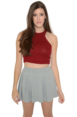 Speed Racer Knit Crop Top