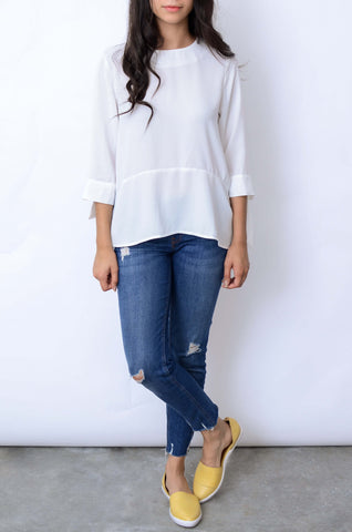 Aliana Knotted Sleeve Top