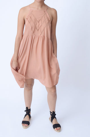 Lush Clothing Apron Neck Flare Dress