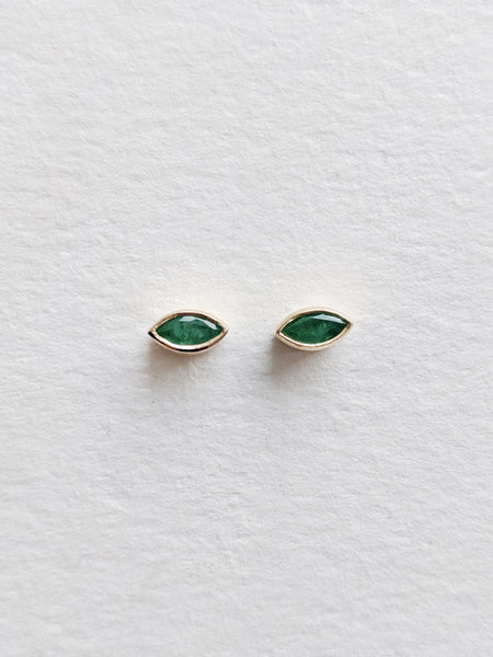 Emerald Mini Magic Eye Studs