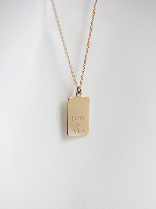 Your Story - Rectangle Engravable Necklace