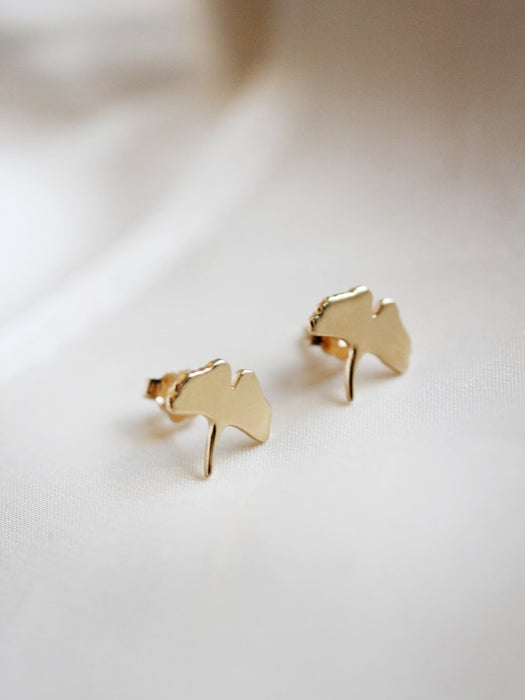 Gingko Leaf Studs