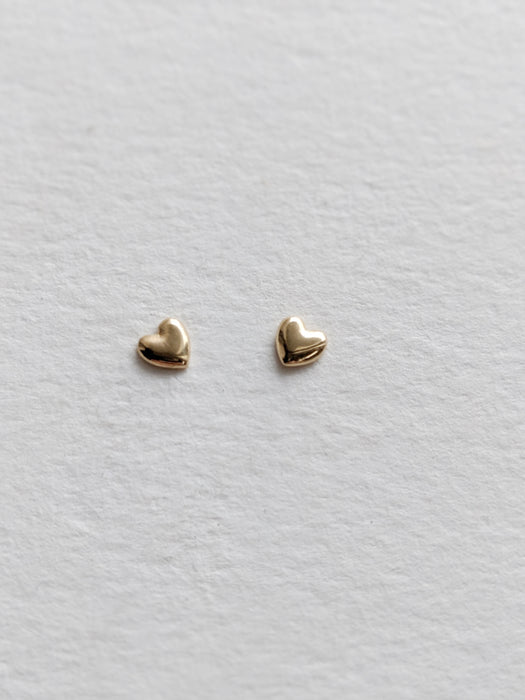 Tiniest Heart Studs