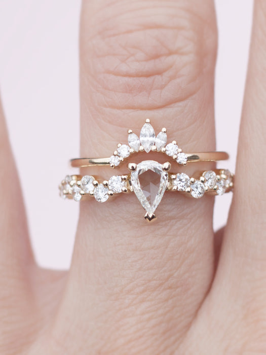 White Intertwine Ring