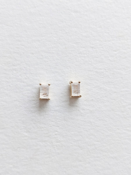 Marlowe Studs in Moonstone