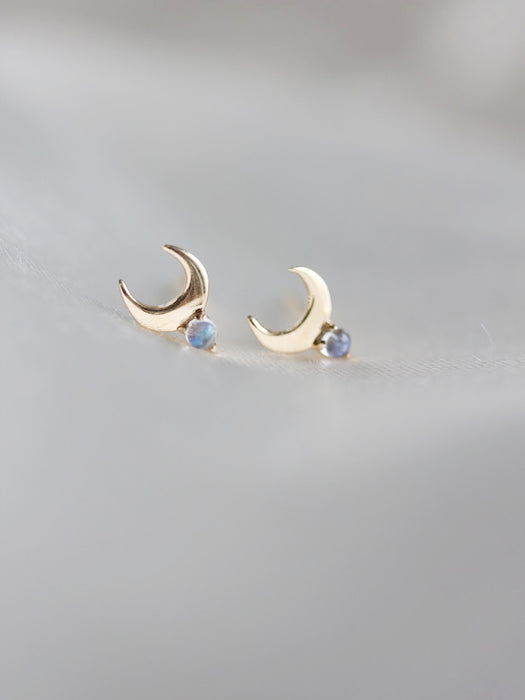 Cassiopeia Studs in Moonstone