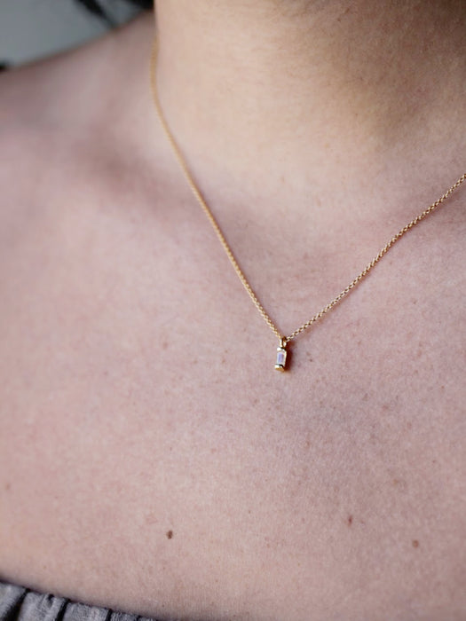 Moonstone Vesper Necklace