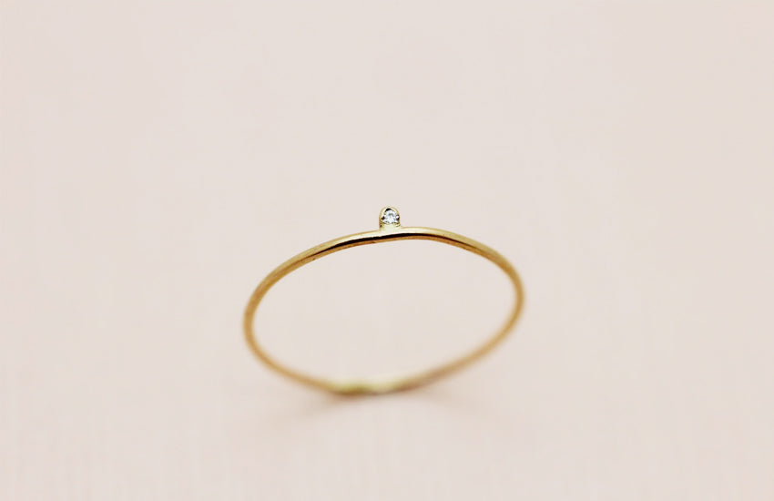 Tiniest Diamond Ring