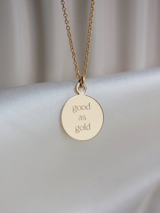 Your Story - Small Engravable Necklace