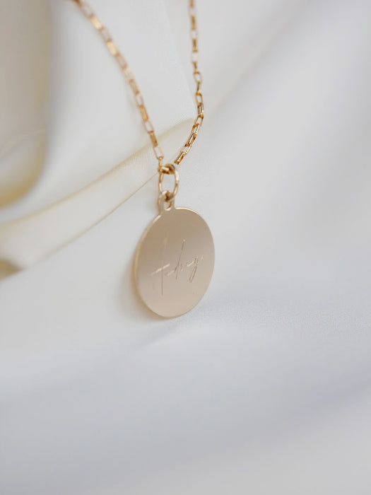 Your Story - Large Engravable Necklace