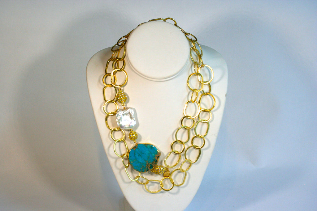 CDW GemSnap Gold Loop Necklace