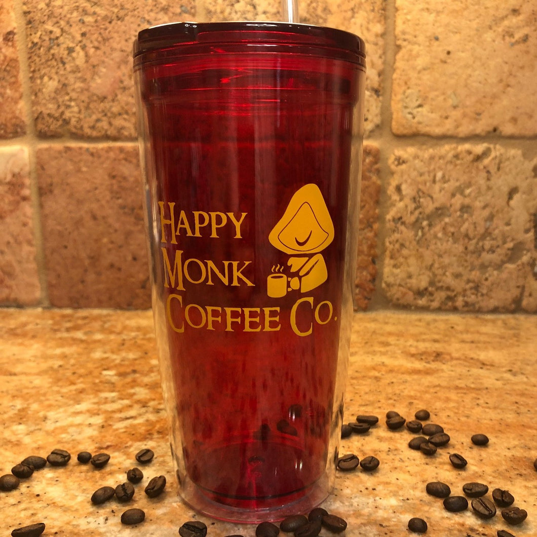 Happy Monk Coffee Co. Cold Double Wall Plastic Tumbler 20oz