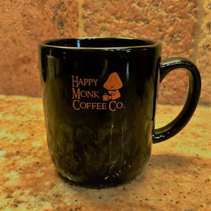 Happy Monk Coffee Co. Mug 16oz  - Black