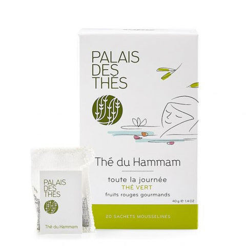 Thé du Hammam (Thé vert - Datte - Fleur d'Orange - Rose - Fruits Rouges)