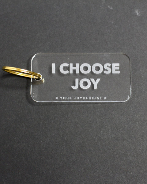 I choose joy - key chain