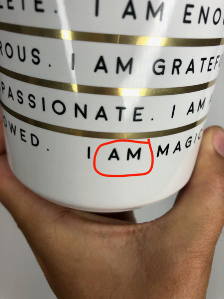 Gold Foil Porcelain Mug - Imperfect