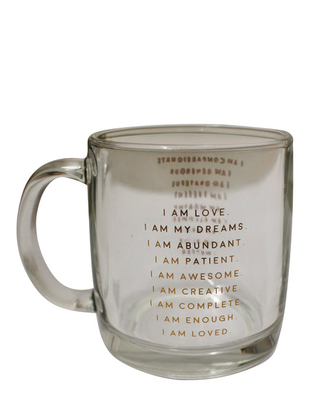 Imperfect - I Am Affirmation - Glass Mug