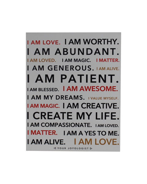I am - Affirmation - magnet