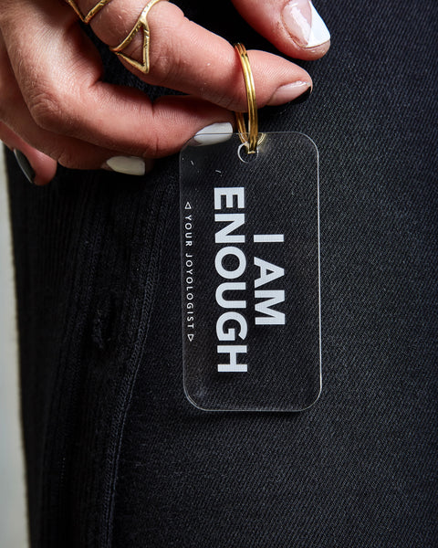 I am enough - key chain
