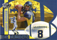 Aaron Rodgers 2005 Press Pass BIG NUMBERS Rookie Year Card #BN 25