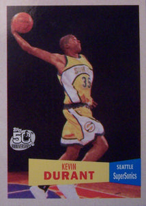 Kevin Durant 2007 2008 Topps Basketball 1957-58 Variations Parallel Version Mint Rookie Card #112