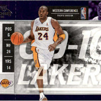 Kobe Bryant 2009 2010 Panini Playoff Contenders Series Mint Season Ticket Card #86