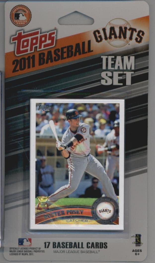 San Francisco Giants 2011 Topps Factory Sealed 17 Card Team Set